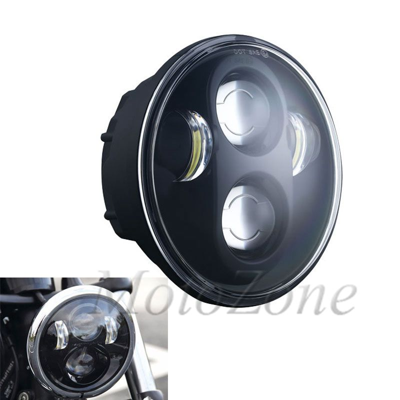 5.75 Inch Projector LED Headlight 5 3/4 Motorcycle Headlight Round Headlamp Suit For Harley Softail Dyna Sportster