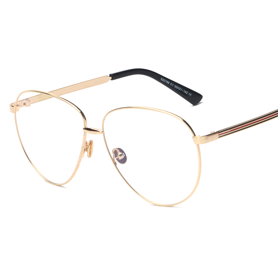 new high quality gold frame glasses cat eye eyeglasses retro women glasses frame mens eyewear clear