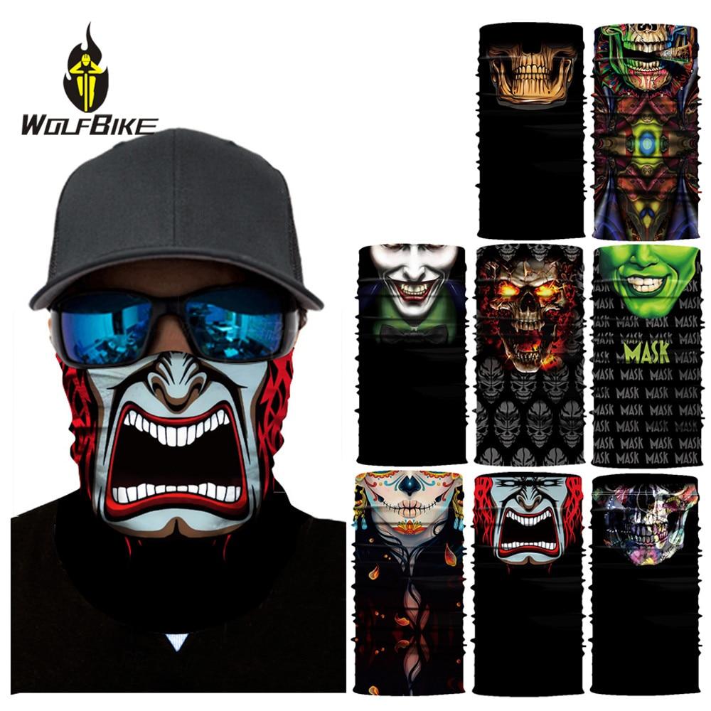 Wolfbike Outdoor Sports Bike Mask Cycling Head Band Neck Warmer Skull Ski Balaclava Headband Sweat Scarf Shield 3D Ski Mask