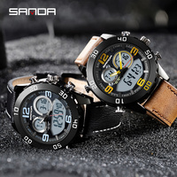 2019 SANDA Fashion Sports Mens Watches Waterproof Shock LED Display Watch Men Outdoors Digital Clock Relogio Masculino
