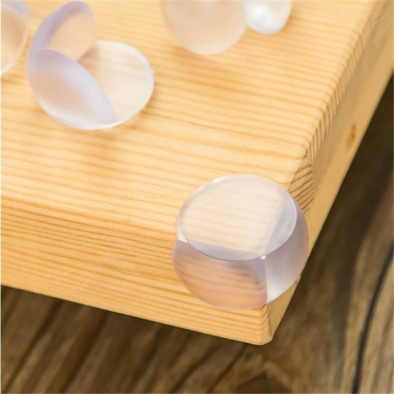 4Pcs New PVC Ball Corner protector L-Shape baby Soft child safety cushion table desk Edge Angle Guard Bumper Protector baby safety anti collision strip table desk corner cushion cover protector guard red