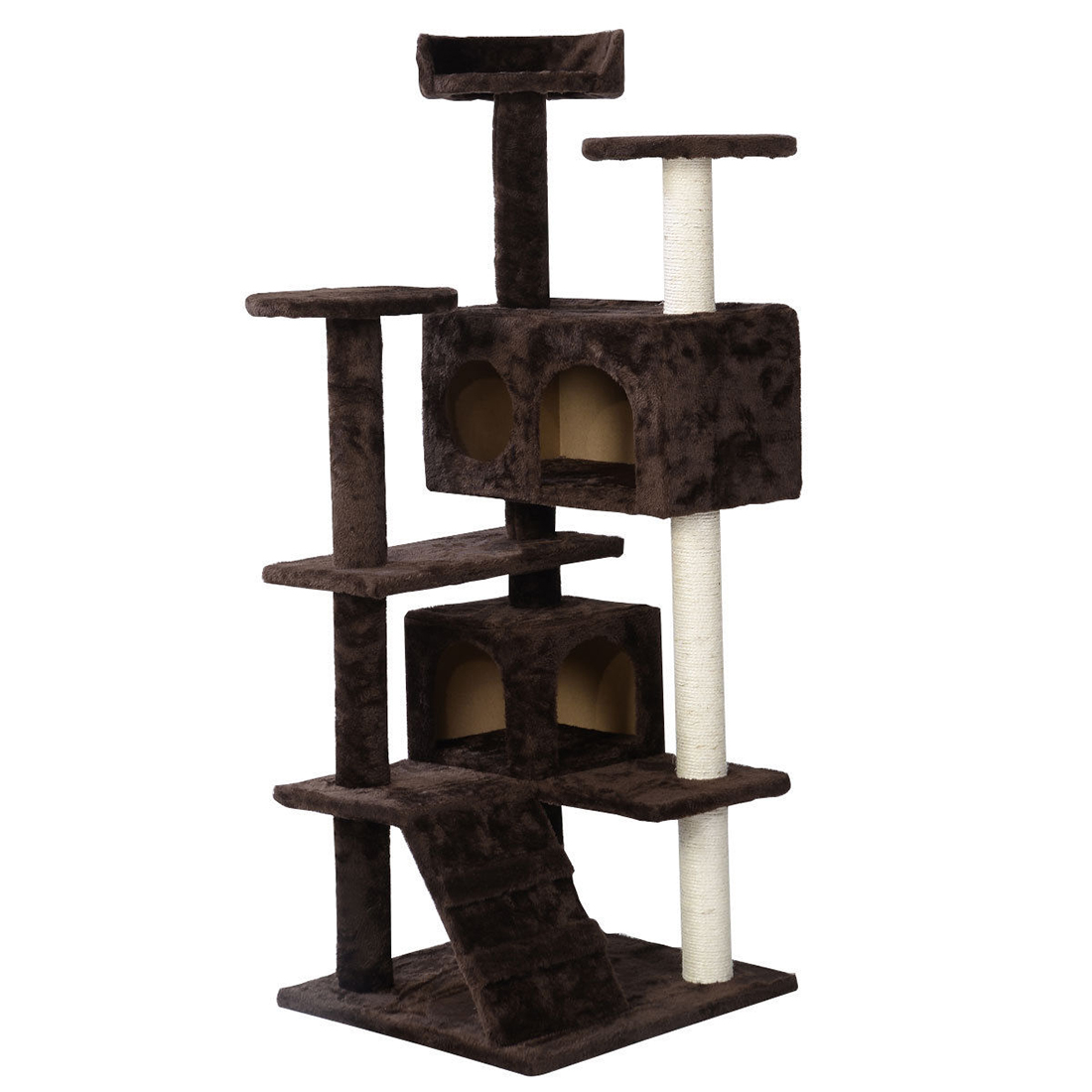 phfu 200cm cat tree scratcher scratching kitten climb post. Black Bedroom Furniture Sets. Home Design Ideas