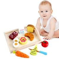 Bambino di Legno Pretend Gioca Kitchen Toys Taglio Frutta Verdura educazione Giocattoli e cibo per I Bambini Della Ragazza per Bambini In Età Prescolare Giocattolo