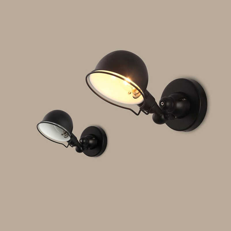 Retro loft lamps personality folding adjustable bra wall sconce bedroom bedside study reading wall light switch art wall lamp