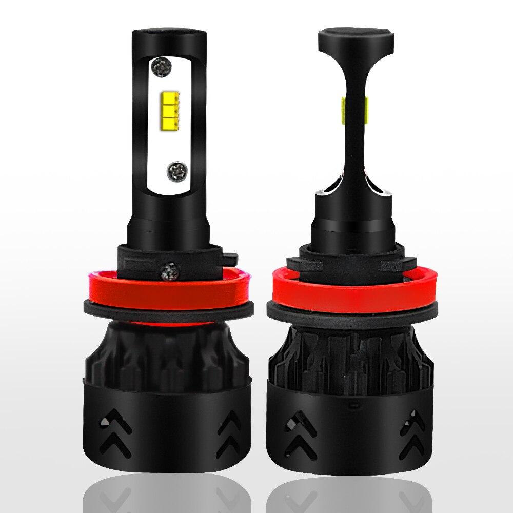 2 X H8/H9/H11 Car SUV Headlight Bulb COB LED 25W 4800LM DC 9V 36V IP68 Waterproof 6000K Cold White 360 Degree Beam for Mini8