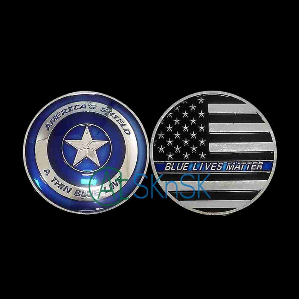 New Irregular Customized Challenge Coin America S Shield A
