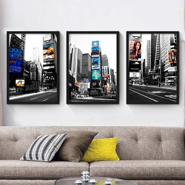 Haochu tats unis new york ville vue sur la rue jaune taxi for Salon sur la rue
