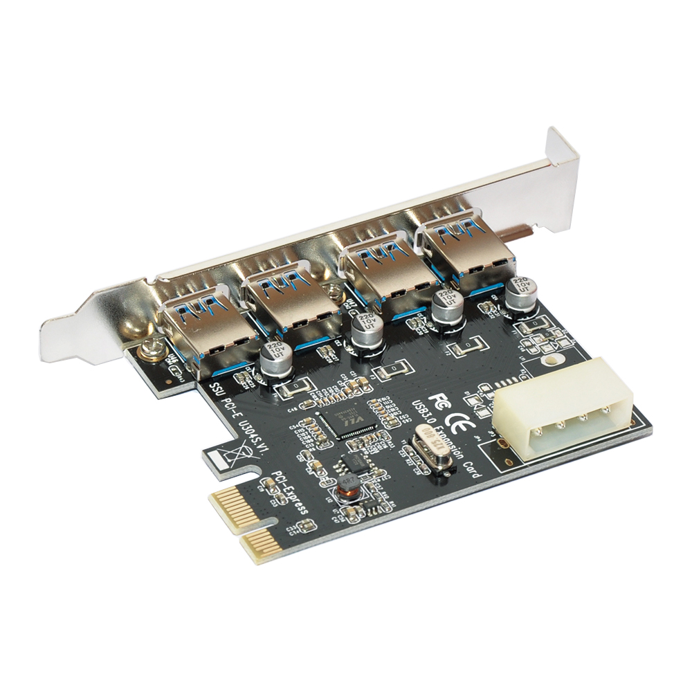 4 Port PCI-E to USB 3.0 HUB PCI Express Expansion Card Adapter 5 Gbps Speed multi model pci e to usb 3 0 4 port pci express expansion card adapter pci e 15 pin power connector super speed up to 5gbps