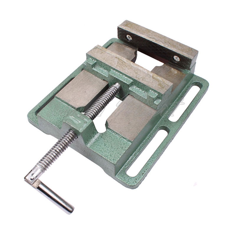 5 Inch Woodworking Drilling Simple Machine Vise Pliers Table A Flat Nose Clamp Drill Table Vise Pliers Machine original japan keiba vise p 108 200mm 8 inch electrical flat nose locking pliers for cutting crimping clamping tools