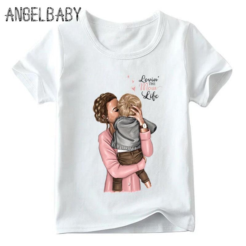 Одинаковые комплекты для семьи футболка для мальчиков и девочек с принтом супермамы и дочки одежда для подарка на День Матери Забавные футболки для детей и женщин - Цвет: 5281E