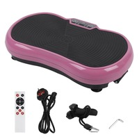 Body Building Shaping Weight Loss Fat Burning Massage Vibration Plate Home Gym Exercise Tool UK Plug Pink