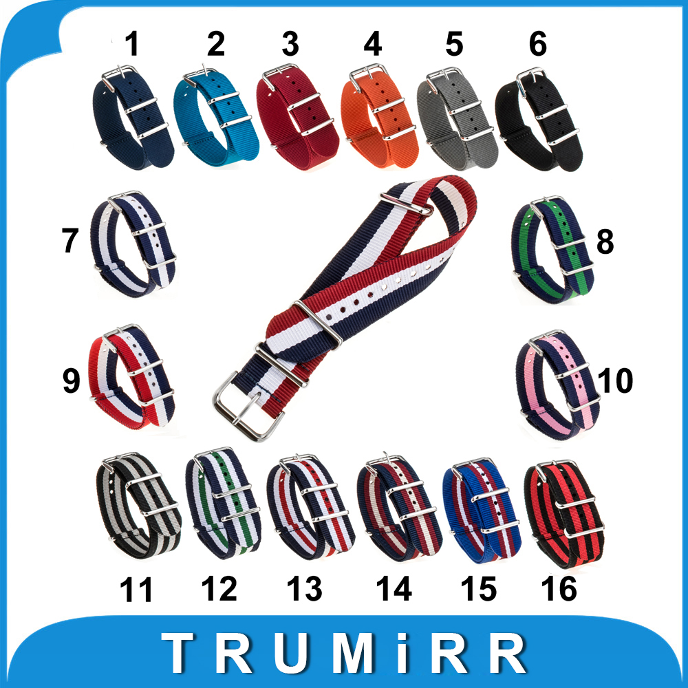 18mm 20mm Nylon Watchband Universal NATO Watch Band Fabric Strap Zulu Belt Wrist Bracelet with Steel Buckle Multi Colors + Tool durable canvas fabric strap steel buckle wrist watch band 20mm 22mm pin buckle durable replacement watchband nato strap colorful