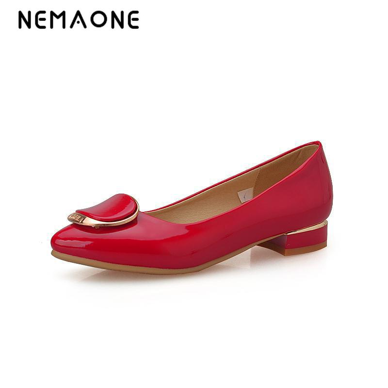 NEMAONE Women Pumps High Heels Womens Dress Shoes Red/Black Large Size Shoes Fashion Casual round Toe PUMPS For Women