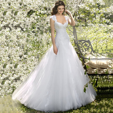 weilinsha 2019 Mermaid Wedding Dresses for Bride Cap Sleeve