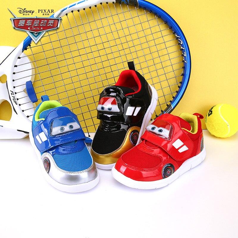 Disney cartoon animation cute children's shoes 2018 new fashion spring new children travel shoes car light baby velvet net shoes