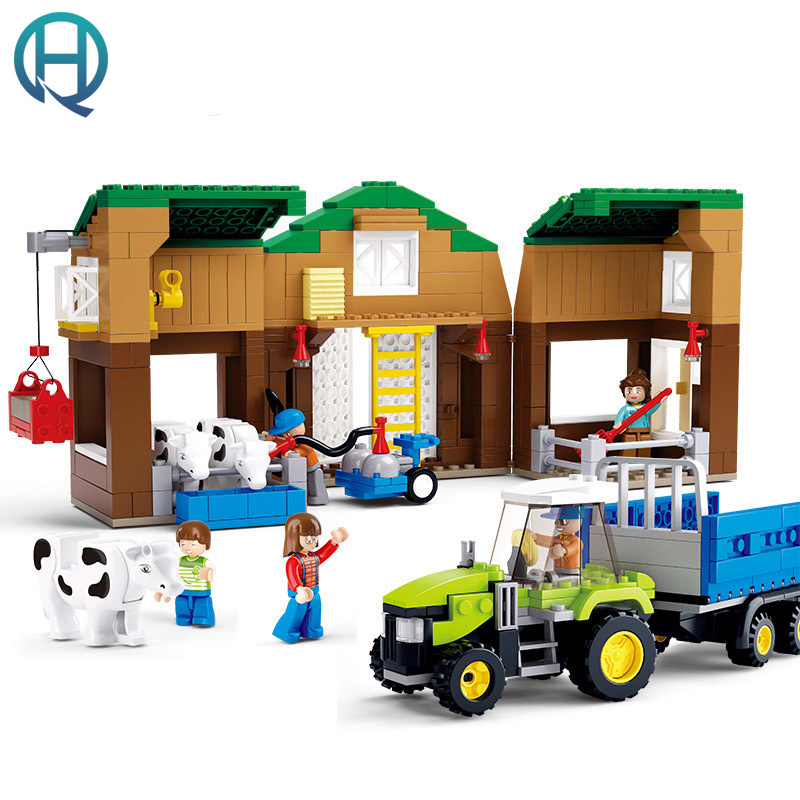Sluban Sunny Farm Series Cow Farms DIY Building Blocks Bricks Sets Educational Techic Bricks Birthday Gift Toys for Children lepin 42010 590pcs creative series brick box legoingly sets building nano blocks diy bricks educational toys for kids gift