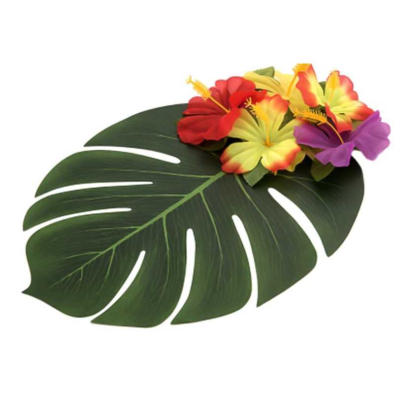 Искусственные искусственные Пальмовые Листья Monstera в форме листьев зеленые растения Свадебные украшения своими руками дешевые цветы растительные листья