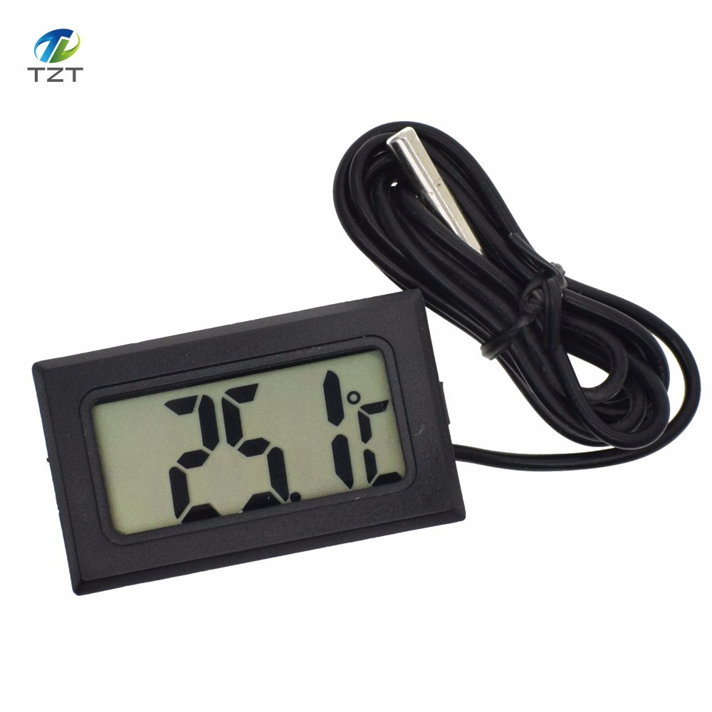 LCD Digital Tank Water Meter Detector Thermometer Electronic Fish Tank Water For Aquarium With Retail Package tpm-10