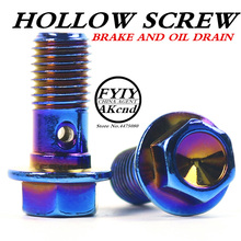 Stainless Steel M10 x  1.25mm Banjo Bolt Motorcycle Braking For Yamaha Honda Suzuki Kawasaki Brake