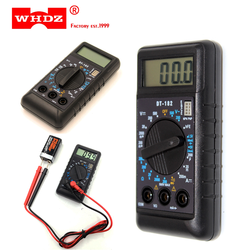 Measurement & Analysis Instruments Symbol Of The Brand Free Shipping Multimeter Dt182 Ultra-thin Miniature Pocket Pocket Battery Measurement Wei Hua Electronics Pretty And Colorful