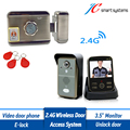 Electronic Kit RFID Door Lock Remotely Controlled By 2.4G Wireless Doorbell Camera For Door Access System