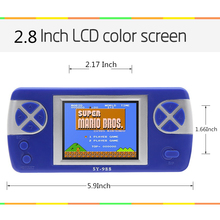 2 8 inch New Handheld Video Game Console Built in 260 Retro Games Console for Kids