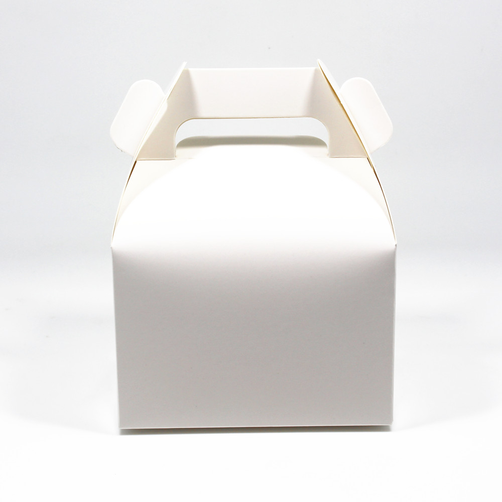 New Style 11.5x8.5x8cm 20Pcs/lot White/Brown Cardboard Cake Packaging Box For Gift Weeding Hand Cake Packing Box Cookie Retail