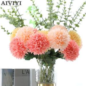 Duże nagietki chryzantemy sztuczne jedwabne kwiaty flores spadek domu ślub DIY dekoracje sztuczne rośliny oddział wieniec fleur