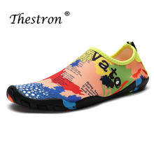 цена на 2019 Women Summer Shoes Breathable Mens Aqua Shoes Hiking Water Shoe Sport Lightweight Womens Aqua Shoes Blue Pink Aqua Sneakers