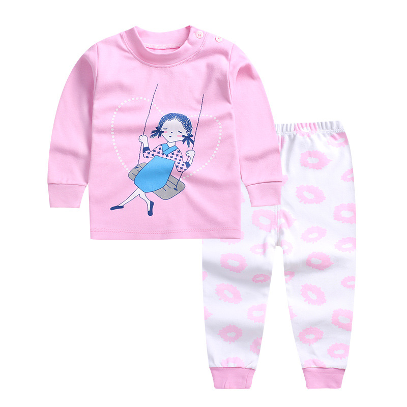 2017 new baby boys and girls autumn and winter clothes for the baby cute cartoon Pink shirt + trousers cotton clothing infant cotton baby rompers set newborn clothes baby clothing boys girls cartoon jumpsuits long sleeve overalls coveralls autumn winter