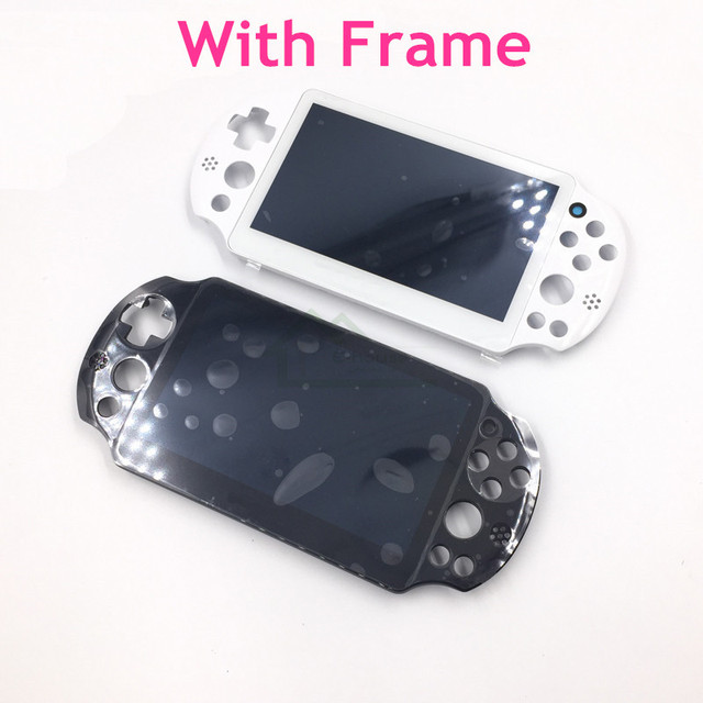 US $27 49 |Original New Assembled LCD Screen Display with frame replacement  for PS Vita 2000 Slim for PSV 2000 PSV2000 LCD Len-in Replacement Parts &