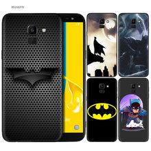 2e76d9c9339 Funda de silicona para Samsung Galaxy J4 J6 A6 A8 más A7 A9 J8 2018 A5 2017  suave cubierta de Batman superhéroe