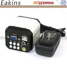 Big discount Free Shipping 2.0MP VGA/AV/USB 3 in 1 Outputs HD Digital Video Industrial Microscope Camera Repair Tool For PCB Solder Repair
