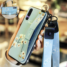 Wrist Strap Hand Band Case For Huawei P30 P20 Pro Finger Ring Soft TPU Back Cover Lite Schockproof case