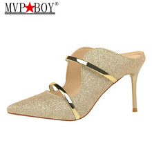 MVP BOY White Gold Sexy High Heels Shoes 2018 New Fashion Summer Style Women Platform Pumps For Party Wedding Shoes Night Club capputine summer fashion high heels shoes and bags set new africa style rhinestone pumps shoes and bag set for party ym005