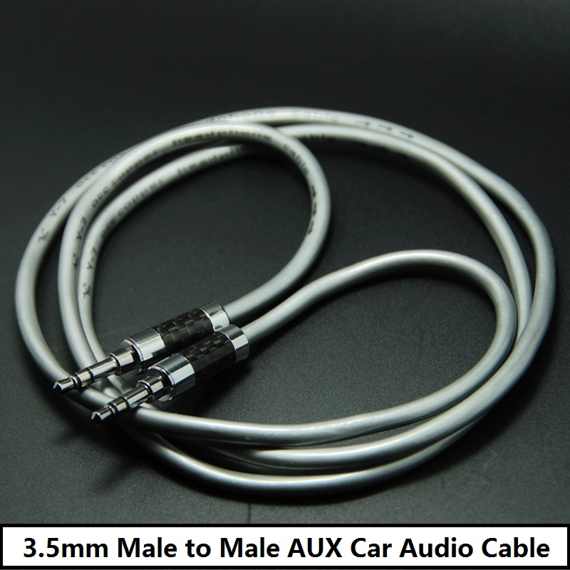 hifi male to male aux car audio cable high fidelity carbon plated rhodium plated plug. Black Bedroom Furniture Sets. Home Design Ideas