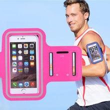Универсальный 5.5 «мобильный Телефон Sweatproof Водонепроницаемый Бег Бег Повязку Держатель Case для iPhone4 5S SE 6 6s 7 Плюс для samsung