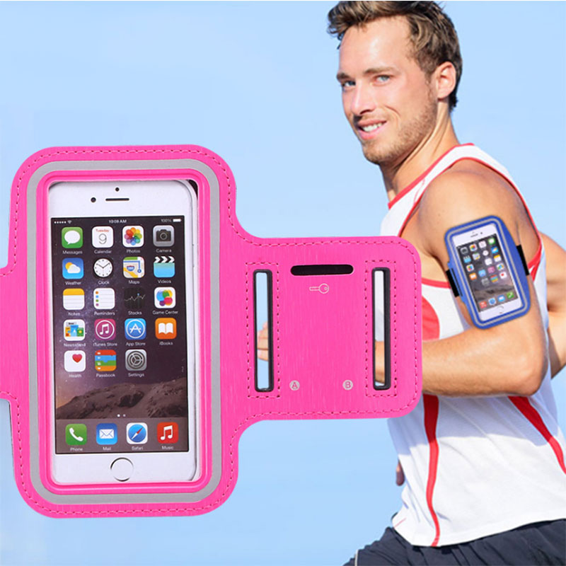 "Universal 6.5 ""Teléfono móvil a prueba de sudor impermeable Jogging Running Arm Band Holder Case para iPhone4 5S SE 6 6S 7Plus para samsung"