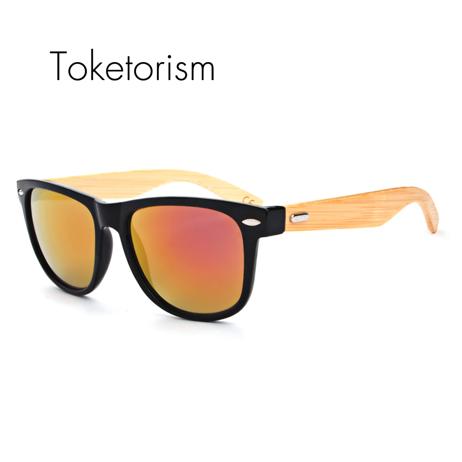 af336675621 Toketorism New hot bambu oculos de sol 80s vintage bamboo sunglasses brand  designer wood sunglass men women 8201