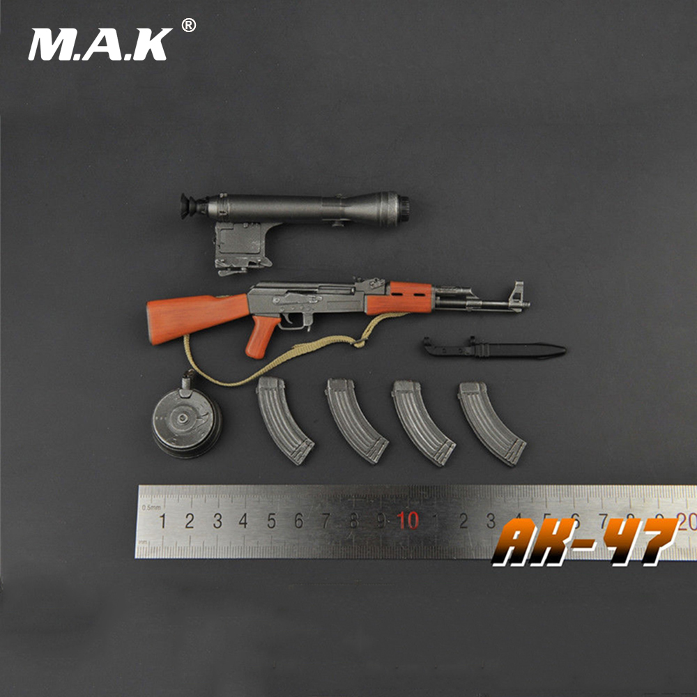 1/6 Scale Action Figure Weapon Accessories AK47 Gun Model Toys With Fixed Care for 12 inches Action Figure