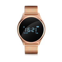 Smartch Sliver Goud Zwart M7 Smart Armband Touchscreen OLED 0.96 Inch Smart Polsband Smartwatch Ondersteuning Android/IOS telefoon
