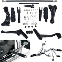 Motorcycle Forward Controls Kit For Harley Sportster XL883 XL883N XL883L XL1200C Foot Peg Lever Linkages Mounting Hardware 04 13