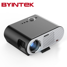 2017 BYINTEK GP90 GP90UP 1280×800 Inteligente Android Wifi Cine USB Vídeo Full HD WXGA LED HDMI VGA 1080 P de Cine En Casa proyector