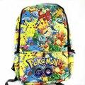 New Fashion Game Pokemon Backpack Anime Pocket Monster School Bags For Teenagers Gengar Bag PU Leather  Backpacks Rugzak