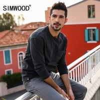 SIMWOOD 2018 New Arrive Spring Long Sleeve T Shirt Men Vintage Slim Fit 100 Pure Cotton