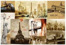 3D Wall Murals Wallpaper Custom Picture Mural Wall Paper Retro European And  American Architecture Room Decoration 3d Wallpaper