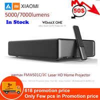 Projecteur Laser Xiao mi mi Android WEMAX ONE PRO Lumens TV 150 pouces 1080 Full HD 4K Bluetooth 4.0 Wifi 2.4 5GHz DOLBY DTS 3D