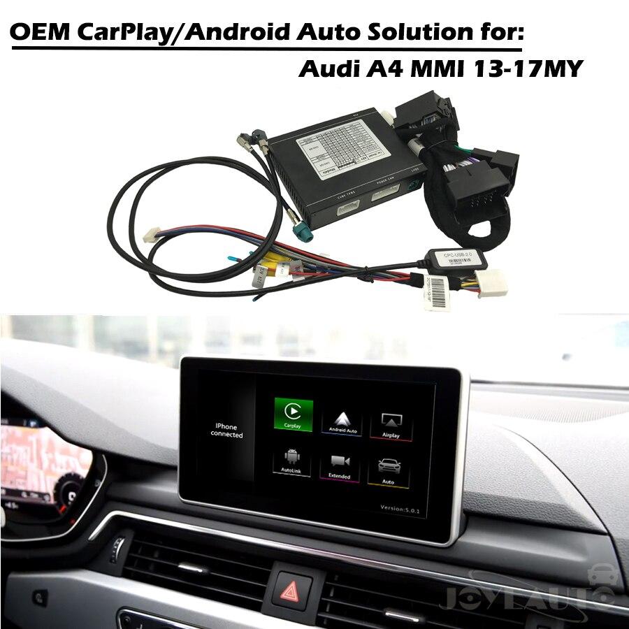 CarPlay Interfaccia Smart CarPlay Scatola A4 MMI 3G 3G + OEM di Apple Carplay Android Auto IOS Airplay Retrofit per Audi Con Waze Spotify