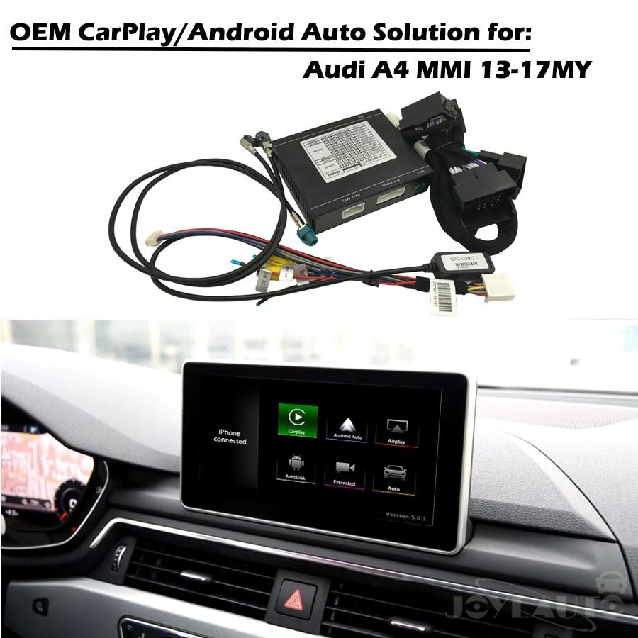 CarPlay Interface Smart CarPlay Boîte A4 MMI 3G 3G + OEM Apple Carplay Android Auto IOS Airplay Rénovation pour Audi Avec Waze Spotify