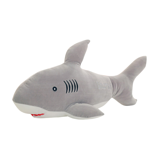 Cute Blue Shark Plush Toy Large Animals Soft Kids Stuffed Toys Plush